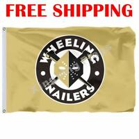 Wheeling Nailers Logo Flag ECHL Hockey League 2018 Banner 3X5 ft