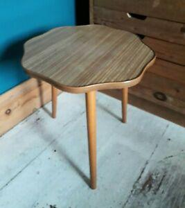 Vintage retro mid century melamine wood effect side coffee table plant stand