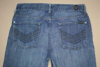 7 For All Mankind Standard Straight Leg Jeans Men's Sz 34 Button Fly Medium Wash