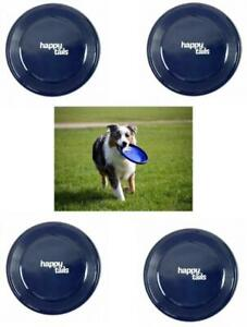 4 x Pet Dog Frisbees Tug & Fetch Play Toy Frisbee Pack New