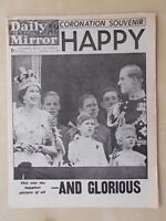 VINTAGE NEWSPAPER DAILY MIRROR JUNE 3rd 1953 ELIZABETH II CORONATION SOUVENIR