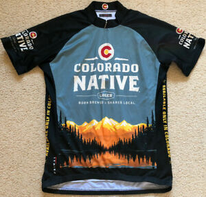 085 Primal Colorado Native Lager Cycling Bike Jersey Mens Size L Large Excellent