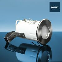 Robus RFS10165 Fire Rated MR16 IP65 Bathroom Downlight Brushed chrome