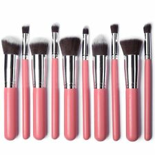 Set of 10 Kabuki Foundation Brush Liquid Blending Mineral Powder Makeup Brushes