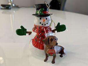 Danbury Mint Dachshund Christmas Ornament * Year 2012 * New in Box
