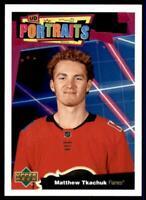 2020-21 UD Series 1 Portraits #P-24 Matthew Tkachuk - Calgary Flames
