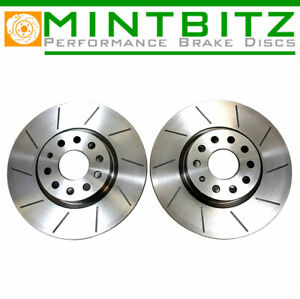 FOR NISSAN NAVARA 2.5 Di dCi TD D40 2005-2016 FRONT BRAKE DISCS GROOVED 296mm