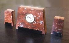 Garniture époque Art-Déco - Pendule Mercedes et ses deux pendants
