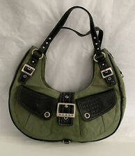 Vintage Guess Green Slouchy Purse Handbag Hobo