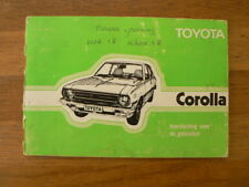 TOYOTA COROLLA AUTO HANDLEIDING 1977 CAR INSTRUCTION BOOK OWNERS MANUAL