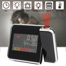 LCD Radiowecker mit Projektion Snooze Datum Temperaturanzeige Alarm Tischuhr DE