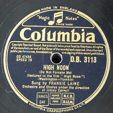 78rpm FRANKIE LAINE high noon / rock of gibralter