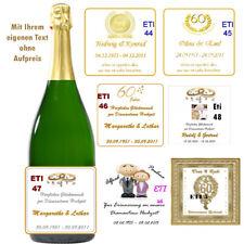 Flaschenetikett/Flaschenaufkleber *Diamantene Hochzeit * glänzend, selbstklebend