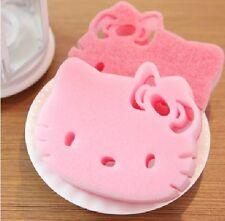 3 x New Cute Reusable Hello Kitty Kitchen Wash Shower Cap Cleaning Scrub Sponge