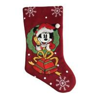Vintage 1960s Minnie Mouse Disney Christmas Stocking Snowflakes Bells