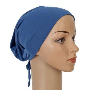 Turban Women Muslim Inner Cap Islamic Lace Up Hijab Hats Under Scarf Bottoming