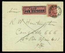 ARGENTINA 1919  San Martin  30c claret  Scott # 241 on internal EXPRESS COVER