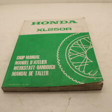 MANUEL REVUE TECHNIQUE D ATELIER HONDA XLR 250 XL R 1984 -> SHOP MANUAL