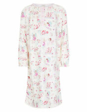 MONSOON IVORY FAIRIES LONG SLEEVE NIGHTDRESS. AGE 7 TO 8 YEARS. NEW WITH TAG.