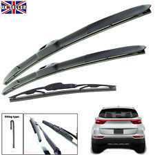 "Kia Sportage 2016-onwards hybrid wiper blades set of front & rear 26""16""12"""