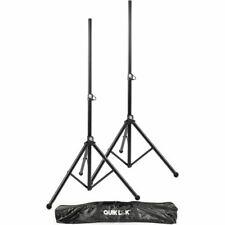 QuikLok Pair Of Aluminium Tripod Speaker Stands Quik Lok - PA Stand - S171PAK-BB