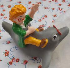 Figur: I.Q. und sein Delphin Squirter 1990 Burger King Spritztier Vintage Rar