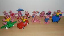 Set Vintage 12 X Figuras de Juguete Estatuillas Rosa avión-Bully Años 80 PANTHER Car