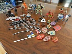 Lot of 64 Papo/Miscellaneous Medieval Knights/Horses/Shields/Weapons