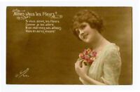 1910s Glamour PRETTY LADY European photo postcard