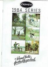 DAWES CYCLE CATALOGUE BROCHURE - 1984 SERIES - RANGER / JAGUAR / GALAXY / RENOWN