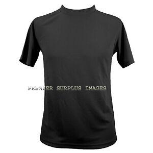 Genuine British Army Black Coolmax T-Shirt Size 2XL, NEW