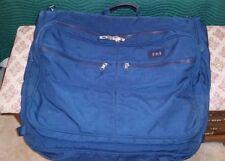 """ANDIAMO Valoroso 24"""" Wardrobe GARMENT BAG Luggage BLUE ~ Near PERFECT Condition"""