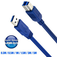 USB 3.0 Printer Cable Type A Male To B Male Super Speed Sync Copper Data Cord ~