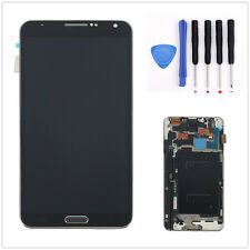 A+ LCD Touch Screen Glass Digitizer Frame For Samsung Galaxy Note3 N9005 Black