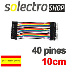 40x CABLES Hembra Macho 10cm jumpers dupont arduino protoboard Male-Female K0106