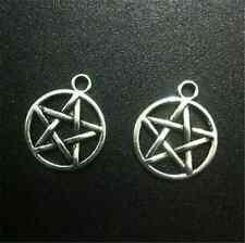 P1009 15pc Tibetan Silver pentagram Charm Beads Pendant accessories wholesale