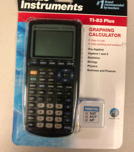 BRAND NEW SEALED TI-83 PLUS TEXAS INSTRUMENTS GRAPHING CALCULATOR BLACK