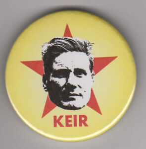 Keir Starmer pin badge button - Labour Party leader - Che Guevara style design
