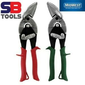 MIDWEST Right & Left Cut Offset Aviation Sheet Metal Snips/Shears Set, MWT6510-C