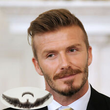 Professional 100% Human Hair Full Hand Tied Fake Mustache Beard Makeup Beard 005