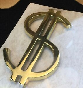 Extremely Rare Virginia Metalcrafters Dollar Sign Paperweight New in Box