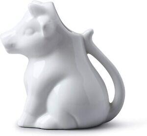 Porcelain White Milk Cream Sauce Jug Cream Gravy Custard Serving Cow
