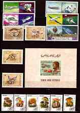 YEMEN blocco e francobolli: Grandi felini,funghi,conquista di l'espace,vari C248