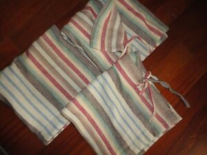 PINE CONE HILL RANCH STRIPE BLANKET TAN SOUTHWESTERN (3) EURO PILLOW SHAMS 26X26