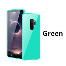 For Samsung Galaxy S9 S8 Plus 360 Magnetic Adsorption Case Tempered Glass Cover