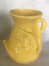 Vintage Yellow Shawnee Pottery Swan Vase/Planters~USA 806~Beautiful!