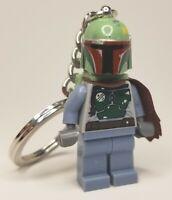 LEGO Star Wars Boba Fett Minifigure Key Chain keychain RARE 2011 design, Disney