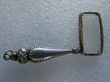 ANTIQUE SILVER VICTORIAN MAGNIFYING GLASS EYEGLASS LOUPE ESTATE COLLECTION