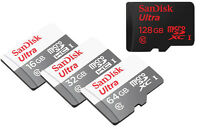 GENUINE SanDisk Ultra 128GB 64GB 32GB 16GB MicroSD SDHC SDXC Class10 lot S8