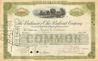 Stock certificate issued to and autograph by Herbert V. Prochnow > Toastmaster